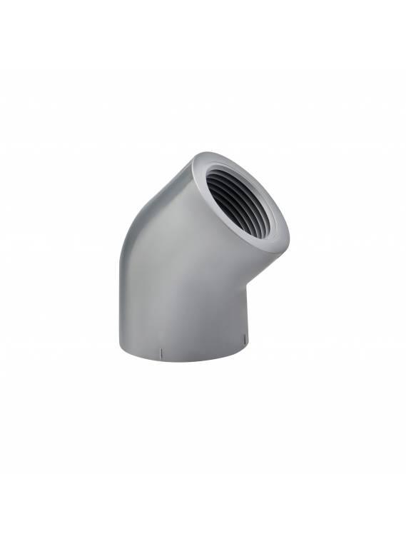 PVC SCH80 45* ELBOW (FPT x FPT)